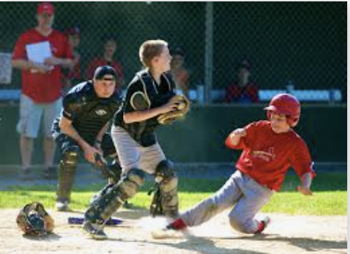 Youth Baseball Action